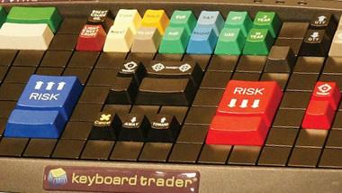 Forex trader keyboard