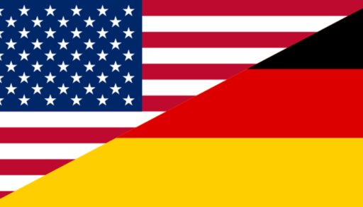 United States Germany flag